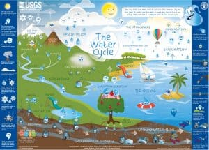 Primary School Science Tuition diagram on water cycle