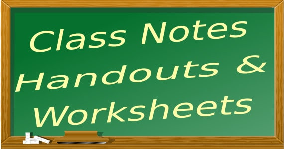 Notes and handouts for private home tuition students by ex-MOE teachers and tutors
