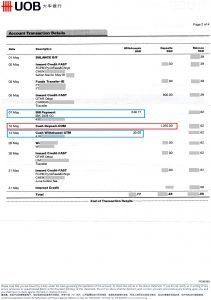 Bank statement to refute Loh Meng Chong Stanley's claim in Small Claims Tribunal case for non-payment of tuition fees by Loh Meng Chong Stanley & Loh Hui Xin Exhibit C image 19